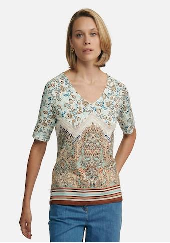 Peter Hahn V-Shirt »viscose«, mit Blüten kaufen