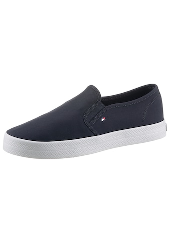 TOMMY HILFIGER Slipper »ESSENTIAL NAUTICAL SLIP ON«, mit Logostickerei kaufen