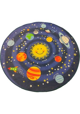 Kinderteppich, »Weltall«, Lüttenhütt, rund, Höhe 6 mm, Transferdruck kaufen