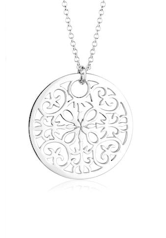 Elli Kette mit Anhänger »Ornament Symbol Anhänger Rund 925 Silber« kaufen