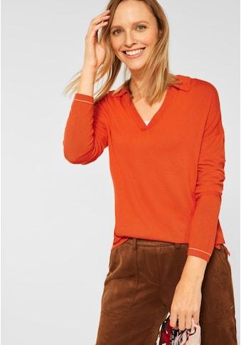 Cecil V-Ausschnitt-Pullover, in Unifarbe kaufen