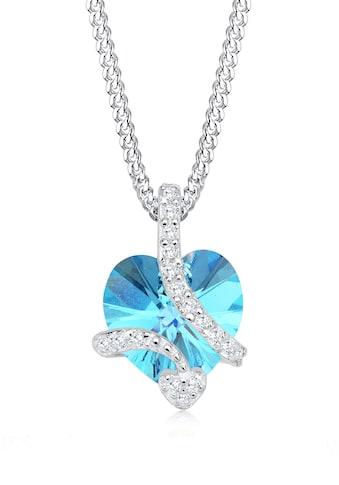 Elli Collierkettchen »Herz aus Swarovski® Kristalle Edel 925 Silber« kaufen