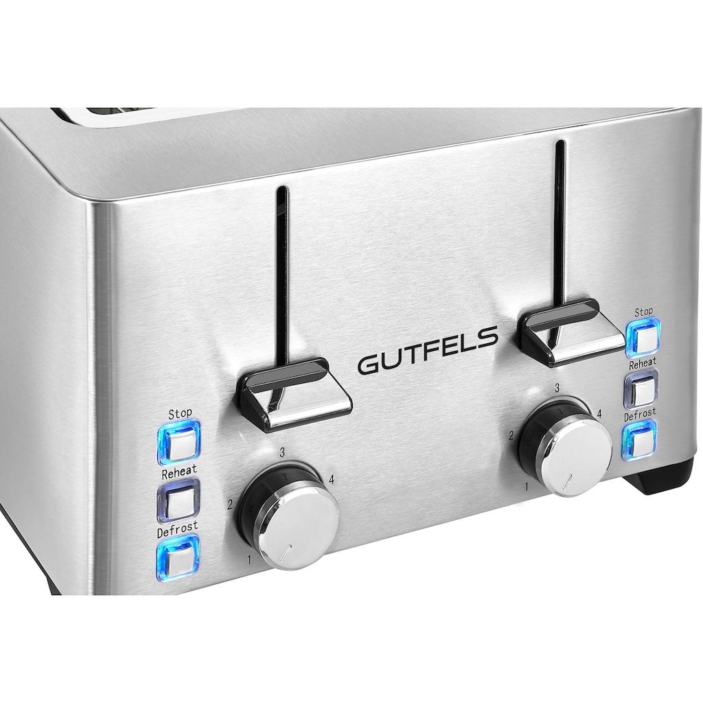 Gutfels Toaster »TA 8301 isw«, 4 kurze Schlitze, für 4 Scheiben, 1500 W