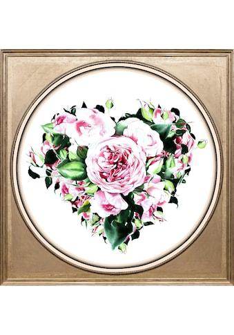 queence Acrylglasbild »Herz aus Blüten« kaufen