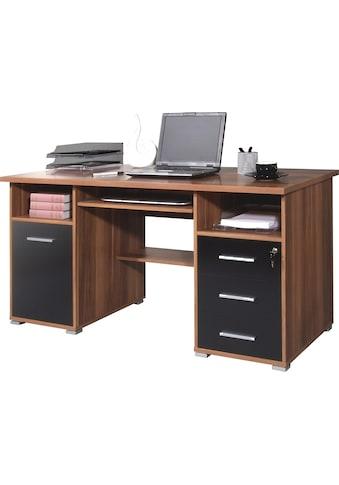 GERMANIA Computertisch »0484«, mit Tastaturauszug und abschließbarem Schubkasten kaufen