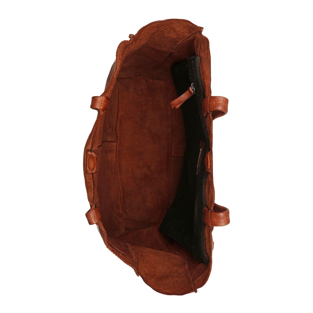 HARBOUR 2nd Shopper »Elbe 2«, aus Leder mit typischen Marken-Anker-Schmuck-Anhänger