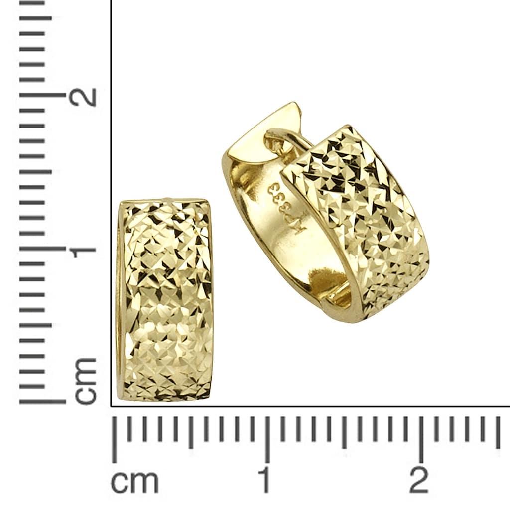 Fascination by Ellen K. Paar Creolen »333 Gelbgold diamantiert«, Creolen