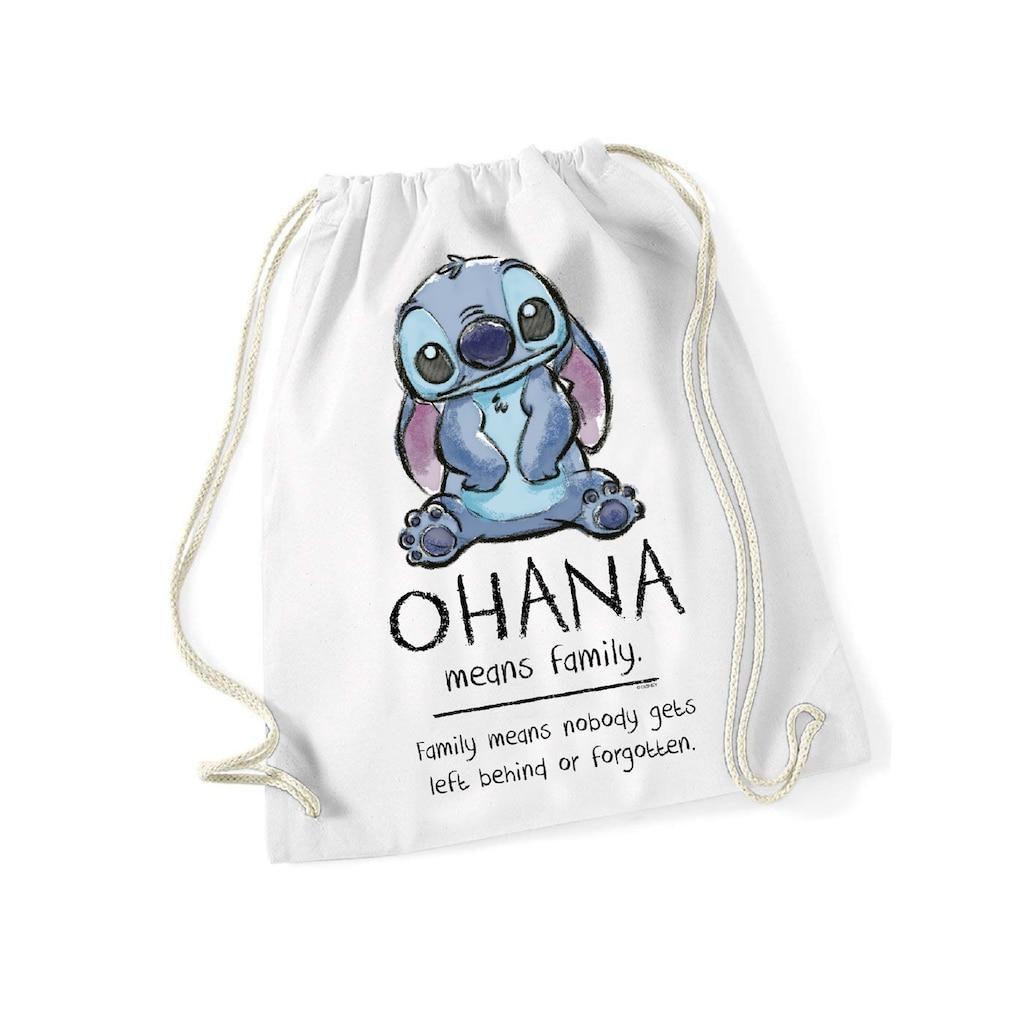 Disney Turnbeutel »Disney Lilo & Stitch Ohana Means Familiy Gym Bag«