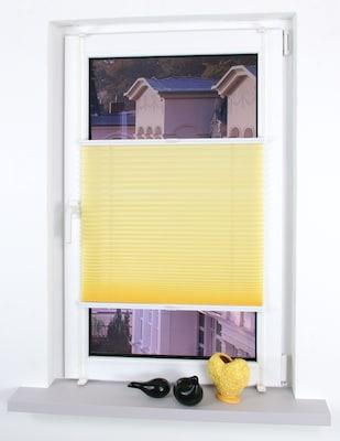 gelbes Plissee