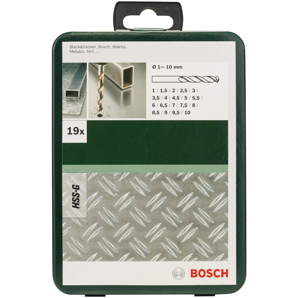 BOSCH Bohrersatz, (Set, 19 tlg.), Metallbohrer-Set HSS-G