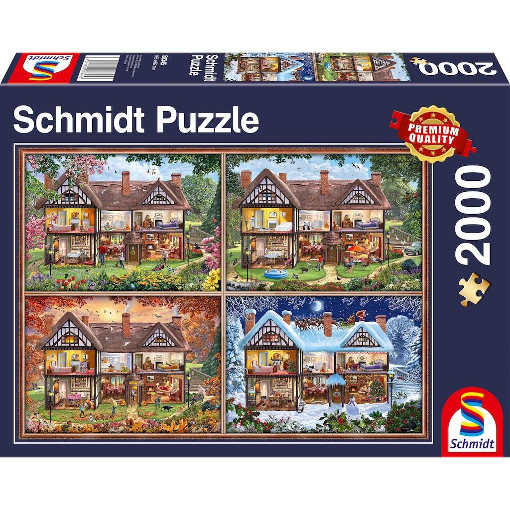 Schmidt Spiele Puzzle »Jahreszeiten Haus«, Made in Germany