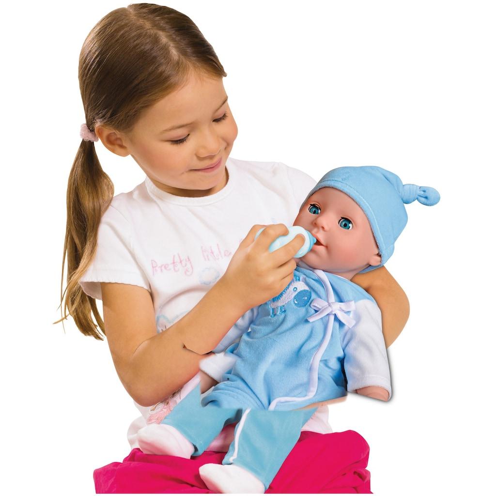 SIMBA Babypuppe »Laura, Babysprache Bruder«, mit Schlafaugen und Sound