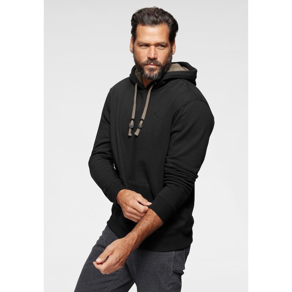 Man's World Kapuzensweatshirt, mit Kontrast- Details