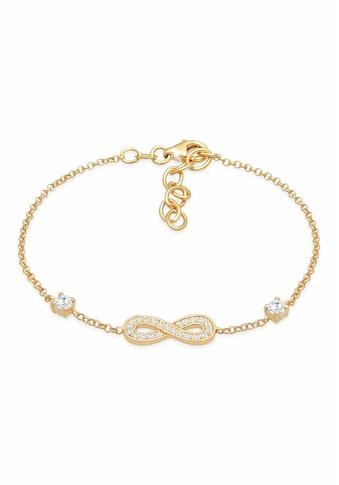 Nenalina Armband »Infinity Unendlichkeit Zirkonia 925 Silber« kaufen