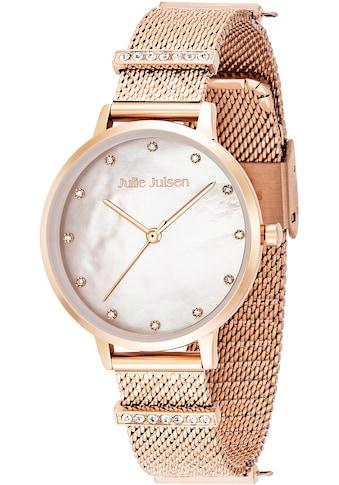 Julie Julsen Quarzuhr »Charming Pearl Rosè, JJW1231RGME-34« kaufen
