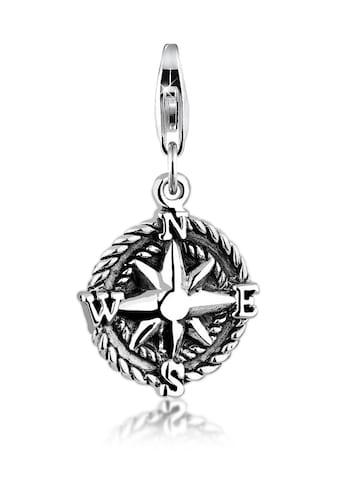 Nenalina Charm-Einhänger »Anhänger Kompass Reise Oxid Windrose 925 Silber« kaufen