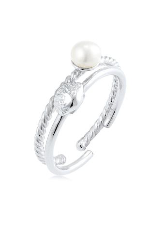 Elli Perlenring »2er Set Muschel Süßwasserzuchtperle 925 Silber« kaufen