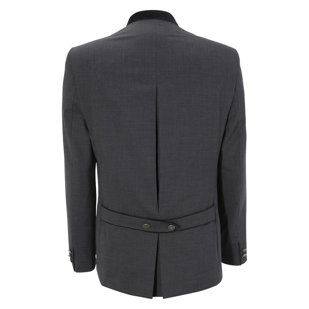 Murk Anzug, Herren, mit Stehkragen und Paspeltaschen in Samtoptik