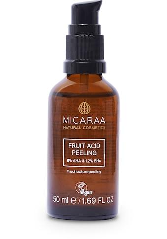 MICARAA NATURAL COSMETICS Gesichtsreinigungsgel »Fruit Acid Peeling«, für alle... kaufen