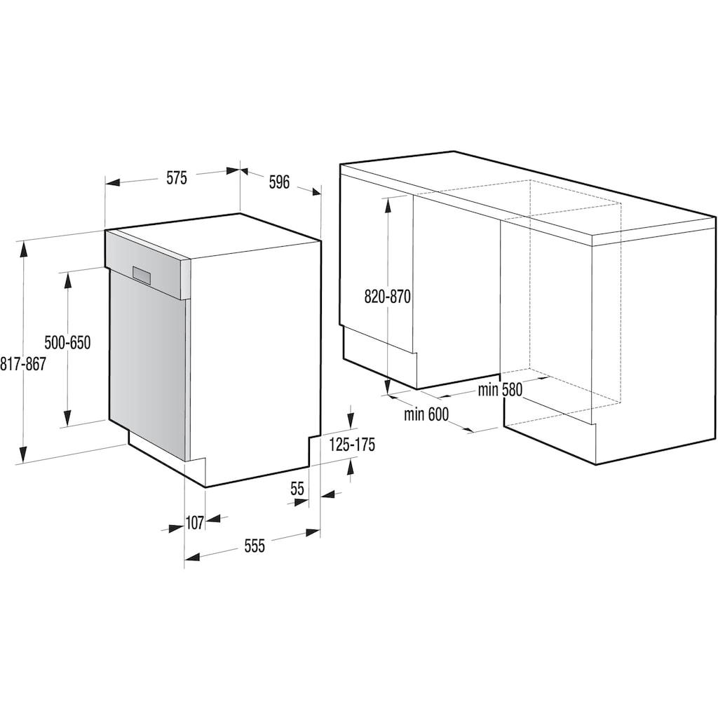 GORENJE teilintegrierbarer Geschirrspüler »GI661C60X«, GI661C60X, 16 Maßgedecke