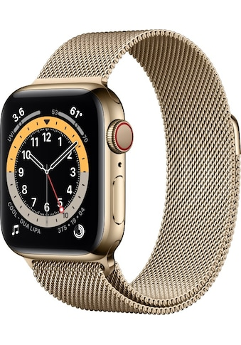 Apple Smartwatch »Apple Watch Series 6 GPS + Cellular, Edelstahlgehäuse, 40 mm mit Milanaise Armband« ( kaufen