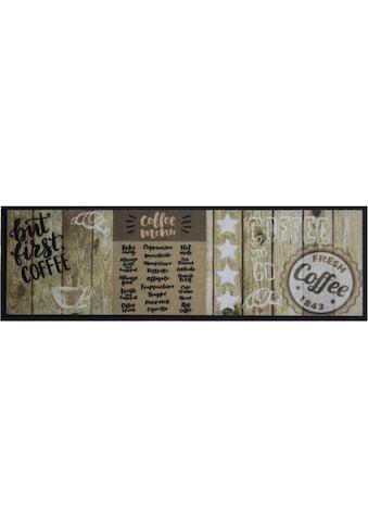 Küchenläufer, »FIRST COFFEE«, Primaflor - Ideen in Textil, rechteckig, Höhe 5 mm, maschinell gewebt kaufen