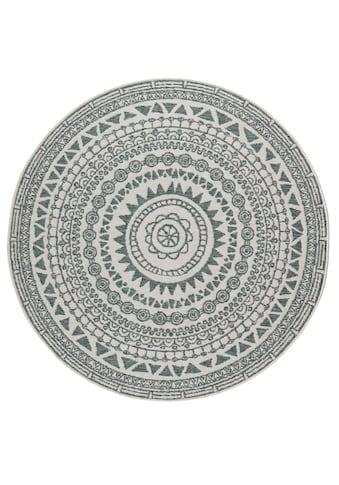 bougari Teppich »Coron«, rund, 5 mm Höhe, Wendeteppich, In- und Outdoor geeignet,... kaufen