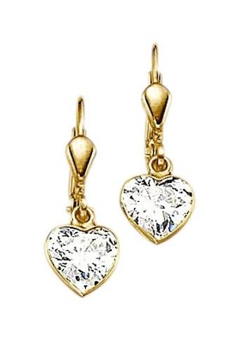 Firetti Paar Ohrhänger »Herz, romantisch glänzend«, mit Zirkonia kaufen