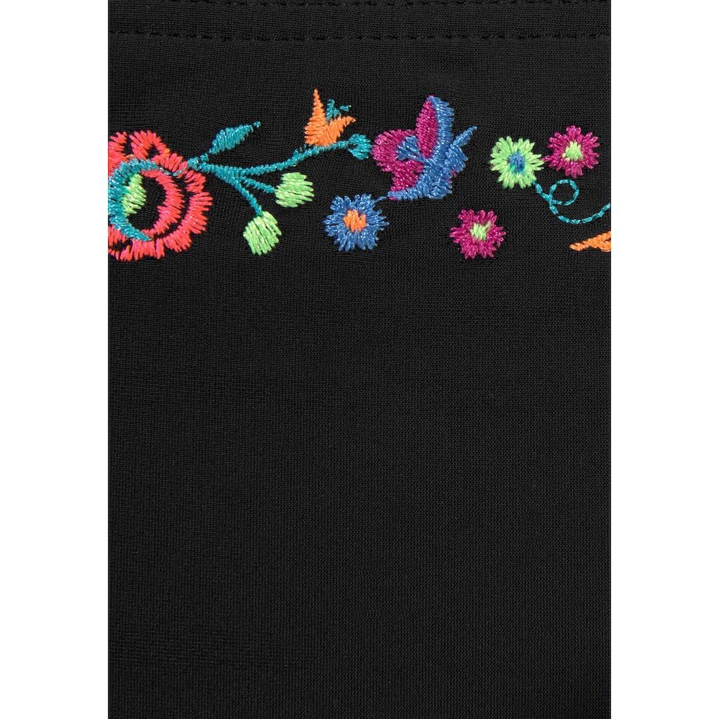 Buffalo Bügel-Bikini, mit Blumenstickerei