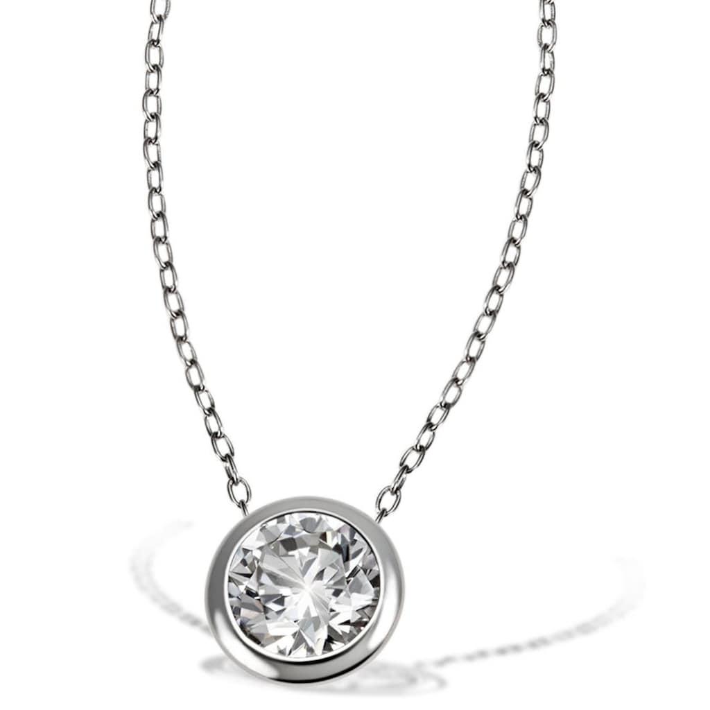 goldmaid Collier, 925/- Sterlingsilber 1 weißer Zirkonia