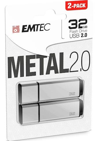 EMTEC USB-Stick »C900«, ( USB 2.0 Lesegeschwindigkeit 15 MB/s), 2er Pack (2x 32 GB) kaufen