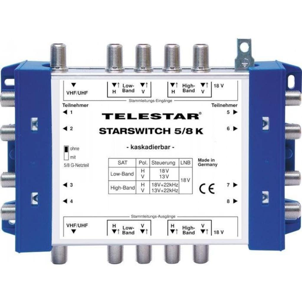 TELESTAR SAT-Verteiler »STARSWITCH 5/8 K inkl. F-Schnellverbinder«