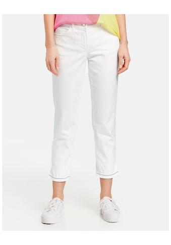 GERRY WEBER Hose Jeans verkürzt »7/8 Hose mit verziertem Saum« kaufen