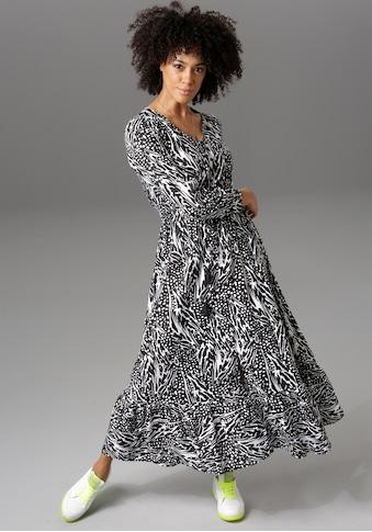 Aniston CASUAL Maxikleid, mit Smokeinsatz in der Taille - NEUE KOLLEKTION kaufen