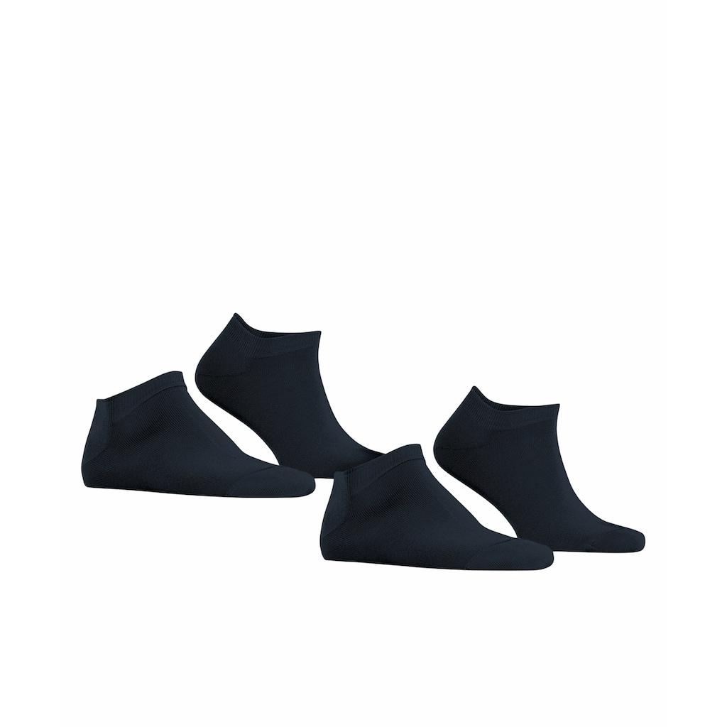 Esprit Sneakersocken »Basic Uni 2-Pack«, (2 Paar), mit hohem Baumwollanteil