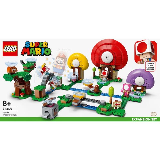 """LEGO® Konstruktionsspielsteine """"Toads Schatzsuche – Erweiterungsset (71368), LEGO® Super Mario"""", Kunststoff, (464-tlg.)"""