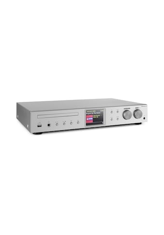 Auna HiFi-Receiver Internet/DAB+/ FM Radio CD-Player WiFi silber kaufen
