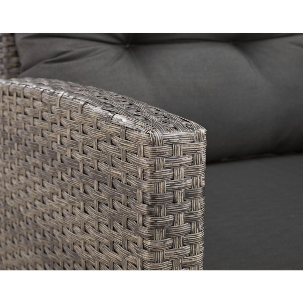 KONIFERA Loungeset »Keros Premium«, 20-tlg., Ecklounge, 2 Hocker, Sessel, Tisch, Polyrattan