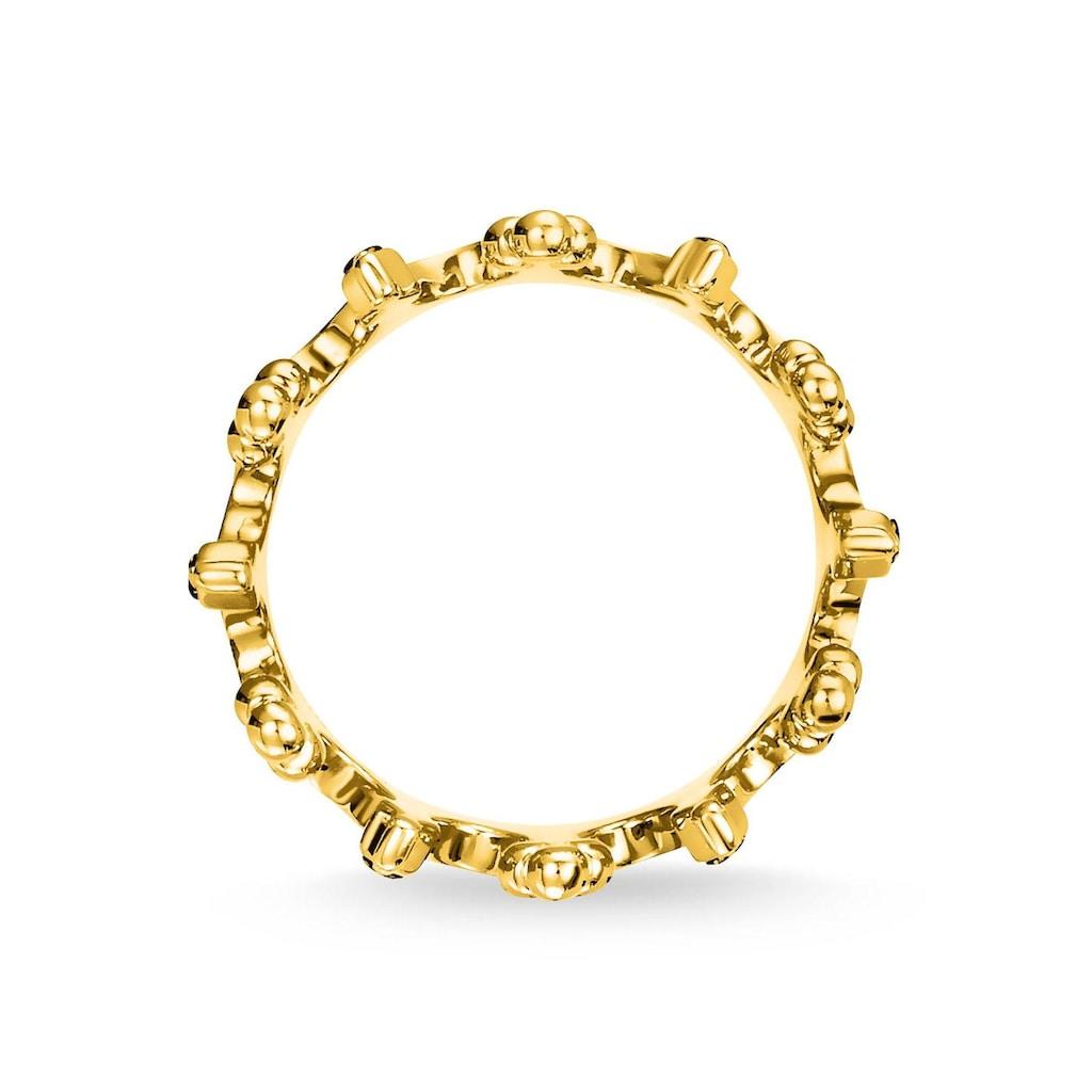 THOMAS SABO Fingerring »Krone gold, TR2224-959-7-50, 52, 54, 56, 58, 60«, mit Spinell, Zirkonia und Glassteinen