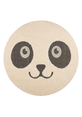 Zala Living Kinderteppich »Panda Pete«, rund, 22 mm Höhe, Hoch-Tief-Struktur,... kaufen