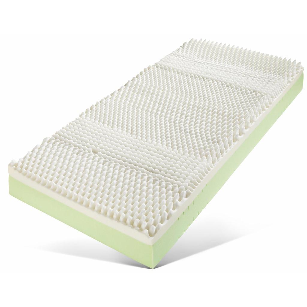 Breckle Visco-Matratze »Memory Pur«, 24 cm cm hoch, Raumgewicht: 28 kg/m³, (1 St.), Optimale Körperanpassung und Druckentlastung dank der Viscoschaumauflage