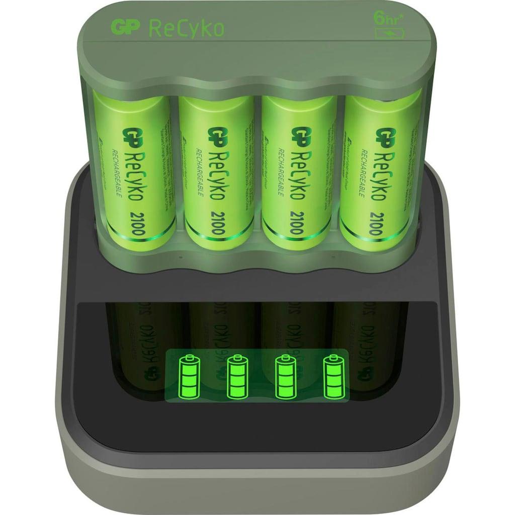 GP Batteries Akku-Ladestation »USB-Akkuladegerät B421 mit Docking Station, inkl. 4x ReCyko AA Akkus je 2100 mAh«
