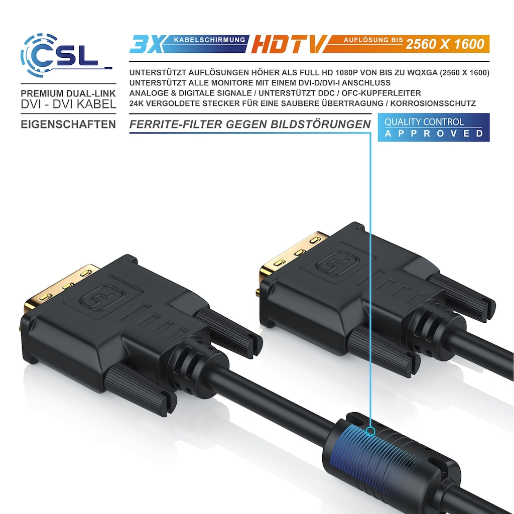 CSL DVI Verbindungskabel Dual-Link 24+1