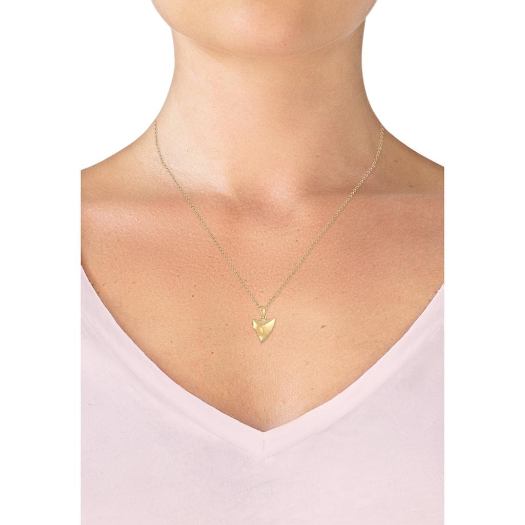 Elli Kette mit Anhänger »Erbskette Zahn Tusk Trend Boho Sommer 925er Silber«