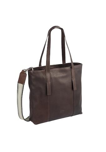 camel active Shopper »Merica«, aus Leder mit gestreiftem Umhängeriemen kaufen