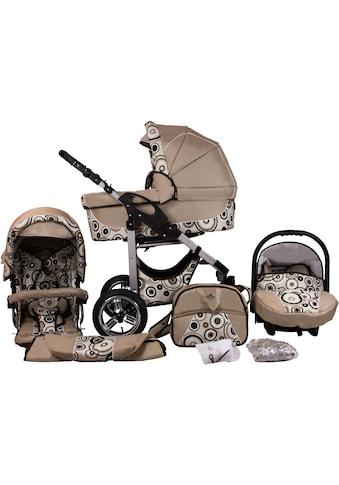 "bergsteiger Kombi - Kinderwagen ""Capri, beige circles, 3in1"", (10 - tlg.) kaufen"