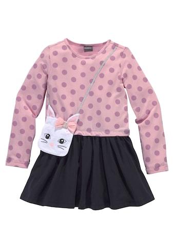 KIDSWORLD Jerseykleid, mit appliziertem Glitzerband und kleiner Tasche kaufen