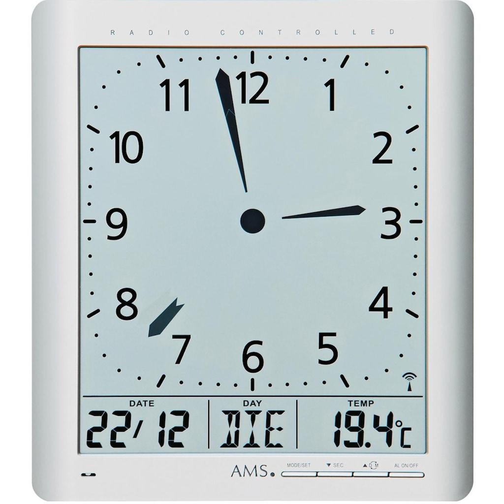 AMS Funkwanduhr »F5898«, mit Alarm