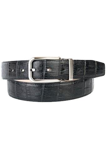 Anthoni Crown Ledergürtel, mit Krokomuster kaufen