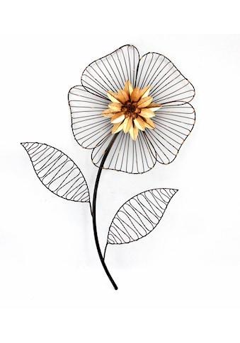HOFMANN LIVING AND MORE Wanddekoobjekt »Wanddeko Blume«, Wanddekoration aus Metall kaufen